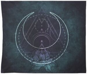 Gothic Tapestry Sacred Geometry Dark Purple Wall Hanging For Home Decor Wall Art