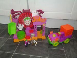 batman imaginext jokers funhouse with sounds,joker surprise tank+2 x figures