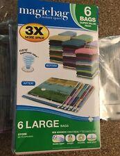 Magic Bag Instant Space Box Of 6 Vacuum Storage Large Bags 21.65 X 33.5�