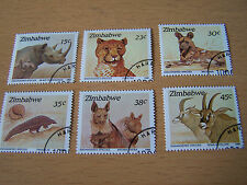 ZIMBABWE ANIMALS SET,6 VALS,F/USED.EXCELLENT.