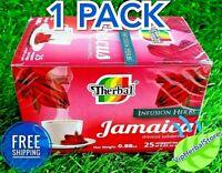 HIBISCUS TEA / Te de Jamaica 25 bags 0.03 oz. each box Antioxidant Free Shipping
