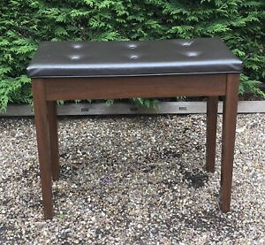 Wooden organ / music stool with cushion seat