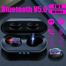 Wireless Bluetooth 5.0 Waterproof Headset In-Ear Touch Earphones Noise Reduction