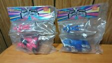 1994 McDonalds Mighty Morphin Power Rangers 2 Sealed in Pkg pink & blue