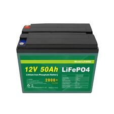 Batteria 12V 50Ah LiFePO4 BMS BLUETOOTH E DISPLAY Litio Camper Barca
