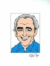 LOUIS NYE, RIP - The Steve Allen Show Signed Auto 8.5x11 Cartoon Autograph a