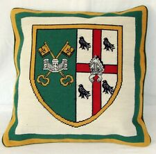 Oxford St Peter's College ( Gold ) Needlepoint Cushion Cover Tapestry Handmade