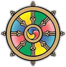 "Wheel of Law Dharmachakra Dharma Tibet Car Bumper Window Sticker Decal 4.6""X4.6"""