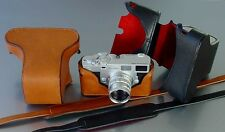 LUIGI FULL CASE for ZEISS IKON ZM,w/LEICA M MOUNT,HAND STITCHED,STRAP, SHIPPING.