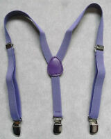NEW BOYS CLASSIC CLIP ON BRACES SUSPENDERS PURPLE ONE SIZE ADJUSTABLE AGE 2-6