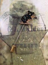 Vintage Jewellery Gold Australian Opal Tie Pin Koala Bear Retro Men's Jewelry
