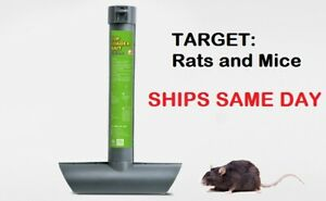 1 x RAT MOUSE MICE RODENT SELF FEEDING TOP LOAD TUBE BAIT STATION Lockable Trap