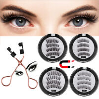 Waterproof Magnetic Eyeliner with Eyelashes and Tweezer 2Pairs Set Long Lashes w