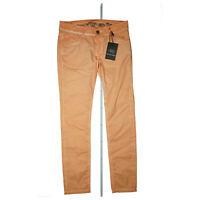Exit Brooklyn Damen Chino Hose Jeans super stretch slim W28 L32 28/32 Orange NEU