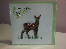 Quilling Cards LLC - 3D Young Deer Note Card
