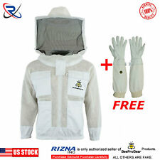 professional 3 Layer Ultra Ventilated Beekeeping jacket Round veil@3Xl