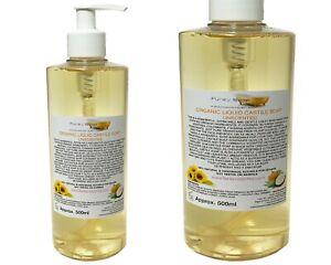 Organic Castile Soap Unscented, 100% Natural & SLS Free, 500ml