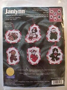 Lot208 Vintage Janlynn Christmas Pals Ornaments Cross Stitch Kit