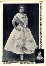 La bailarina española tortola Valencia en el disfraz de la Carmencita 1908
