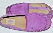 Womens size 4 UGGS moccasins Purple leather size 34 euro
