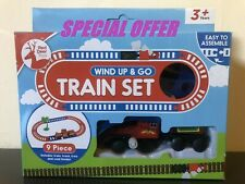 Children Train Track Wind up Set Junior Train Set with Carriages for Kids Toy 3