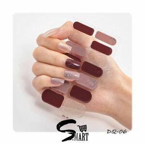 DIY Beauty Sparkle Bling Ballerina Rosewood Glitter Burgundy Wrap Sticker DQ006