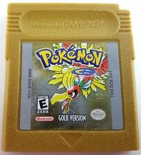 Pokemon Gold Version Game Boy Color Cleaned & New Save Battery Nice!
