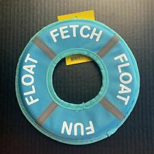 Flying Disc Float Ring Fetch Fun Puppy Dog Toy Blue SportPet Designs