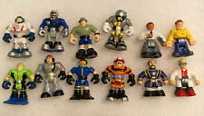 """8 Fisher-Price Micro 2"""" Mini Rescue Heroes Figures Lot Plus 4 Other Minis"""
