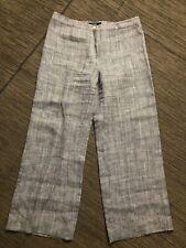 Max Mara Weekend Womens 14 Linen Wide Leg Pants