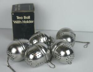 Set of 6 Tea Strainer Infuser Balls Stainless Steel d1