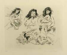 Raphael Soyer, Etching, '4 Nude Females', Pencil Signed And Numbered