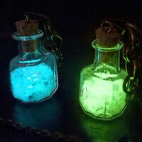 Cute Glow in the dark Luminous Wishing Bottle Sand Star Pendant Necklace Jewelry