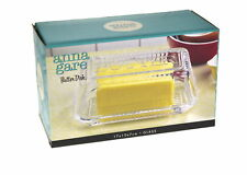 NEW ANNA GARE BUTTER DISH WITH LID GLASS Margarine Tray Holder Vintage