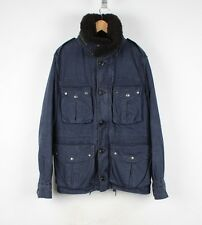 BURBERRY Brit Fur Collar Hooded Men Jacket Coat Size L
