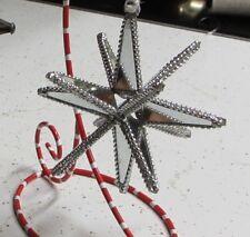 "Star Ornament Beaded 4"" Monrovian Moravian mirrored ornament light Monrovia"
