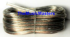 Car Audio Home Stereo SPEAKER WIRE 16 Gauge 25' ft Clear HD Quality Cable VWLTW