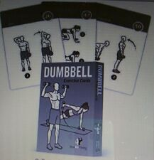DUMBBELL PERSONAL TRAINER LARGE WATERPROOF WORKOUT CARDS