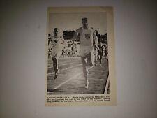 Lon Spurrier 880 Yards Track 1956 World Sports Star Sheet RARE!