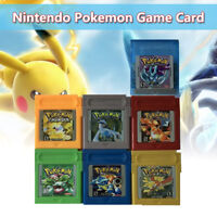 FOR NINTENDO POKEMON 7 PCS GAME CARDS CARTS GBC GAME BOY COLOR VERSION CARTRIDGE