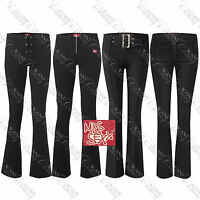 Miss Sexy Girls Ladies Womens Black School Smart Work Stretch Trousers Uniform