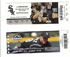 2011 CHICAGO WHITE SOX VS TAMPA BAY RAYS OPENING DAY TICKET STUB 4/7/11