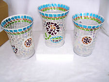 1 Summer Lovin Mosaic Hurricane Longaberger New use as a flower Vase