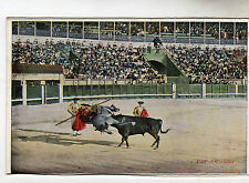 Fall Of Picador Bull Fighting Photo Postcard c1920's