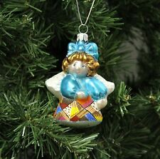 Blown Glass Crazy Quilt, Quilting Angel Christmas Ornament