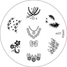 Konad Stamping Template M77 Nail Art NEW