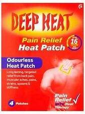 DEEP HEAT PAIN RELIEF ODOURLESS BACK PATCH - 4 PATCHES