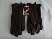 LADIES BLACK QUALITY SUPER SOFT LEATHER GLOVES BUTTONS OR FUR LINED S M L XL