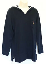 Ralph Lauren Womens Crested Sailor Sweater Small Pullover Top Navy Blue Nautical