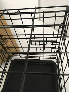 """Dog Cage 18"""" Black Puppy Pet Small Folding Crate 425DC18BK"""